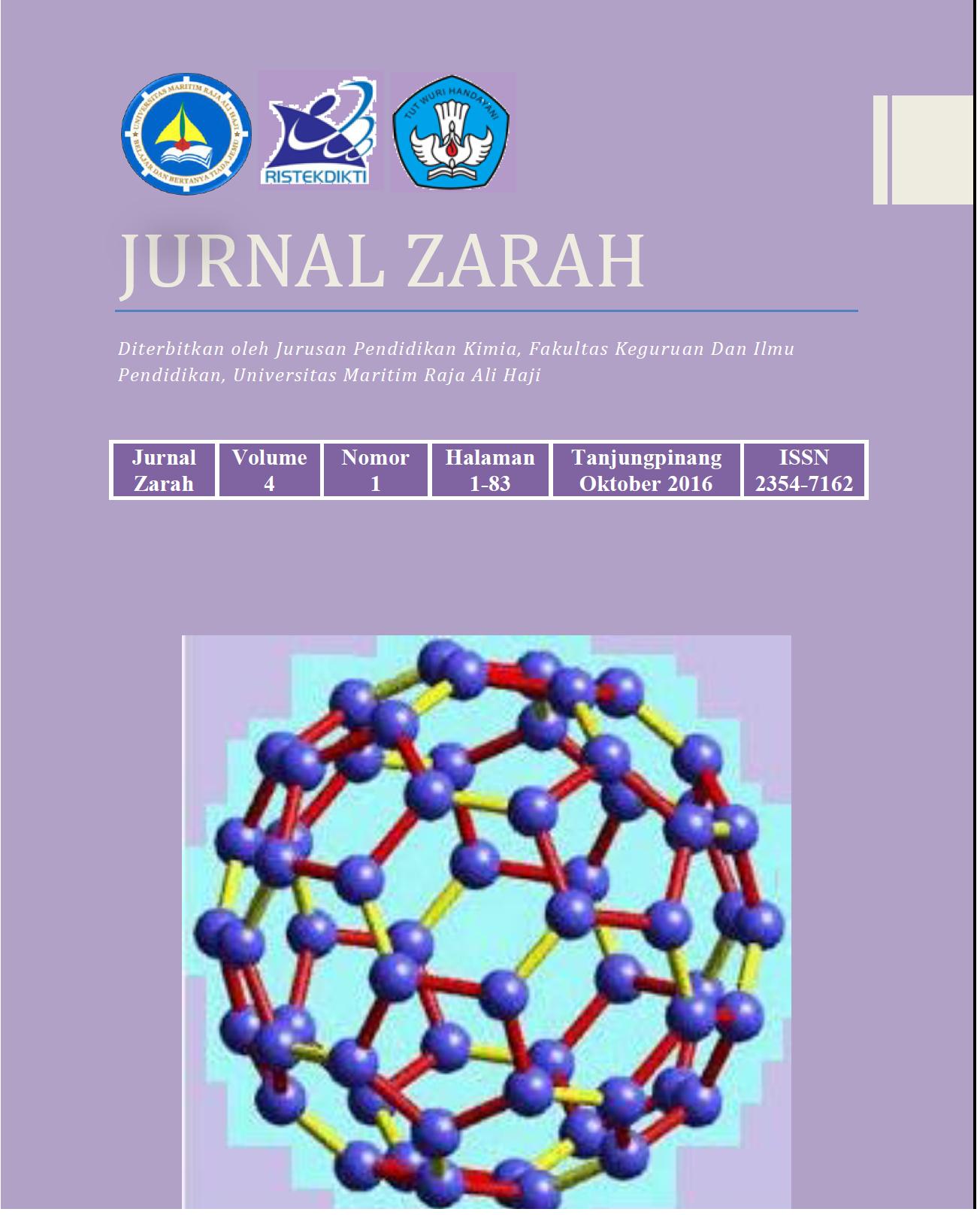 Jurnal Zarah Pendidikan Kimia Universitas Maritim Raja Ali Haji